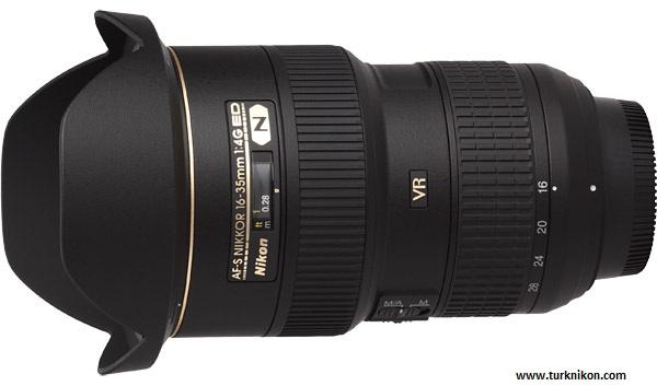 Nikon 16-35mm f/2.8 VR Lens için Patent Aldı