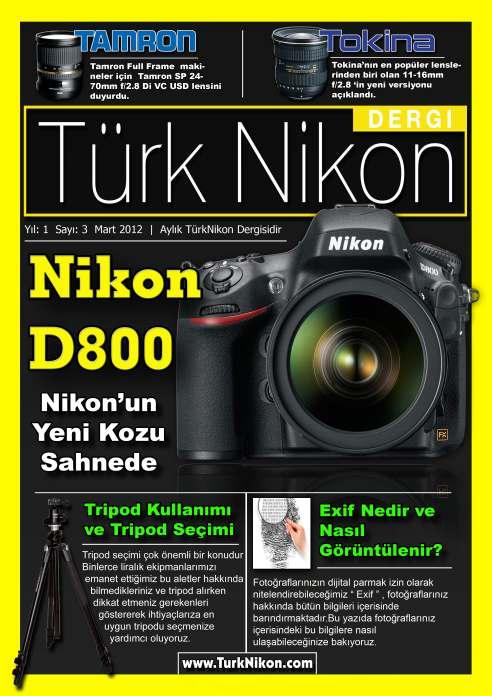 Türk Nikon Dergisi Mart Sayısı Yayında