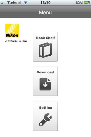 iPhone ve iPad için Nikon Kullanım Kılavuzu Uygulaması