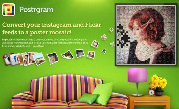Postrgram ile Instagram ve Flickr Fotoğraflarınızdan Mozaikler Oluşturun