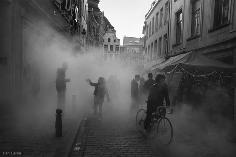 Sokaklardan Etkileyici Siyah Beyaz Manzaralar