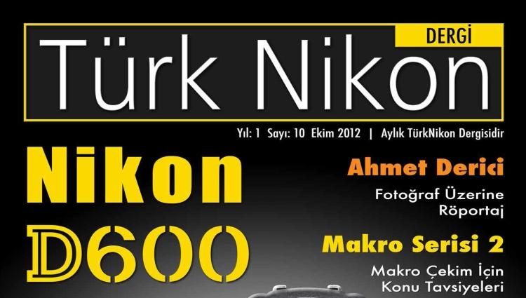 Türk Nikon Dergisi Ekim Sayısı Yayında