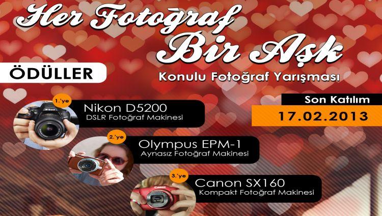 """Bol Ödüllü """"Her Fotoğraf Bir Aşk"""" Konulu Fotoğraf Yarışması Başladı"""