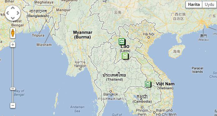 Laos Nerede