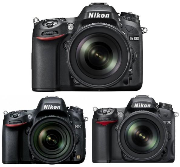 Nikon D7100 vs Nikon D600 vs Nikon D7000 Özellikler Karşılaştırması