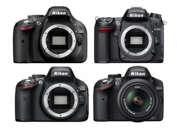 Nikon D5200 vs Nikon D7000 vs Nikon D5100 vs Nikon D3200 Özellikler Karşılaştırması