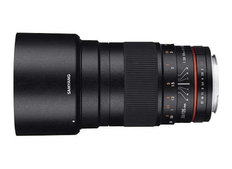 Samyang 135mm f/2 ED UMC Lens Duyuruldu