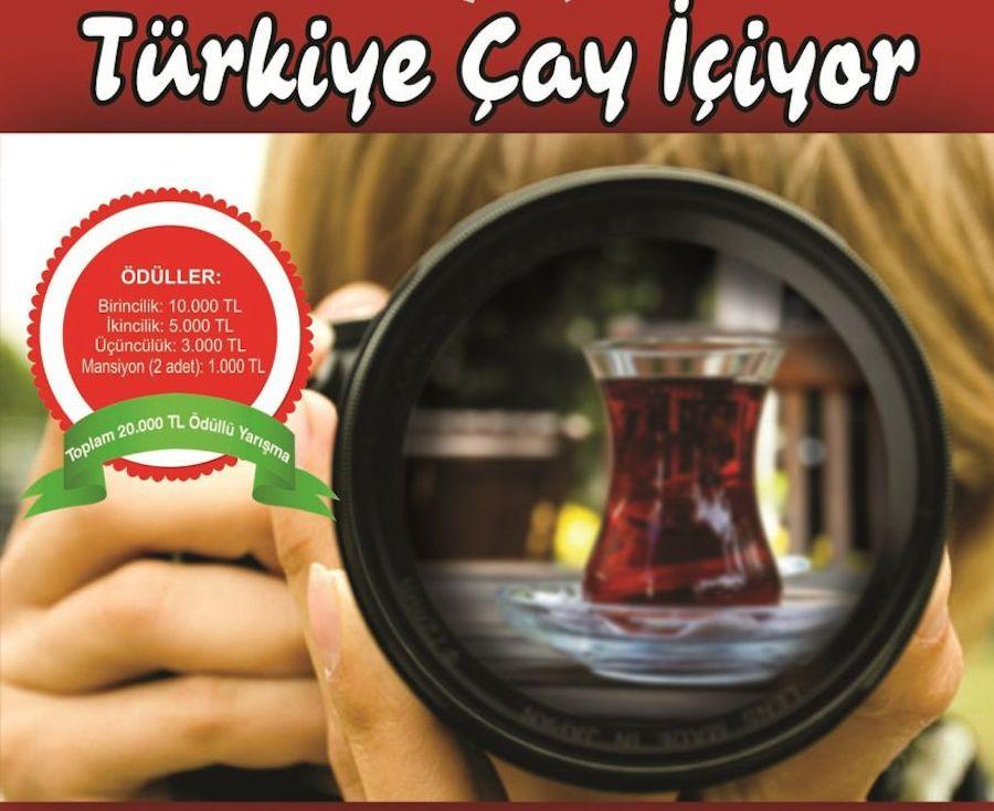 """""""Türkiye Çay İçiyor"""" Ulusal Fotoğraf Yarışması Başladı"""