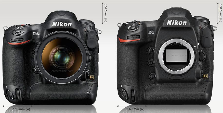 Nikon-D4s-vs.-D5-size-comparison