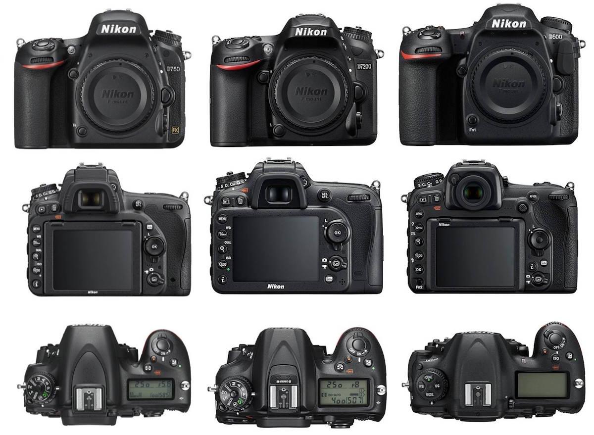 Nikon D7500 vs D500 vs D7200 Karşılaştırması