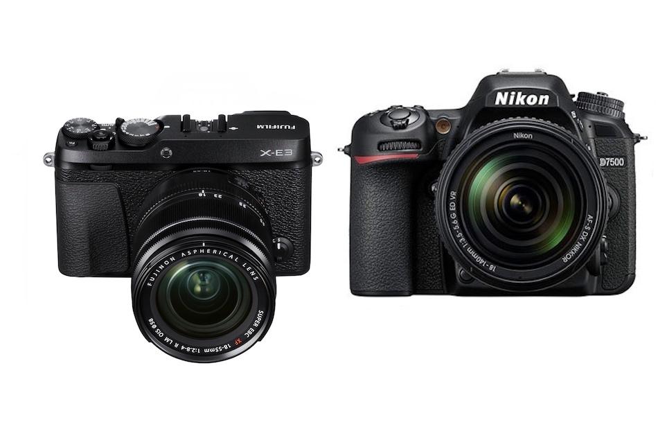 Nikon D7500 vs Fujifilm X-E3 – Karşılaştırma